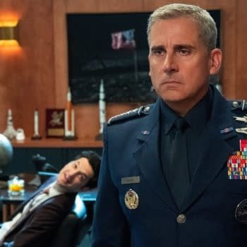 Gen. Naird is already regretting taking the top position at Space Force, courtesy of Netflix.