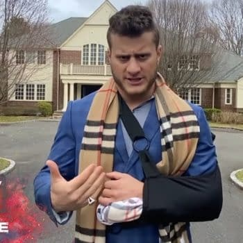 MJF updates his condition on Dynamite, courtesy of AEW.