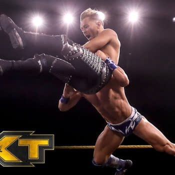 Drake Maverick in the ring on NXT, courtesy of WWE.