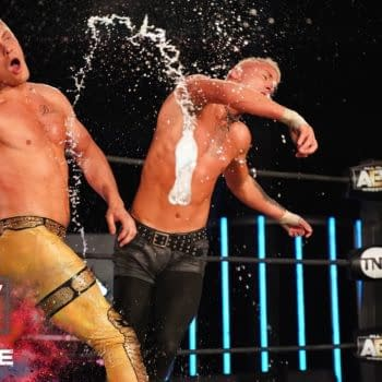 Cody and Darby Allin battle on Dynamite, courtesy of AEW.