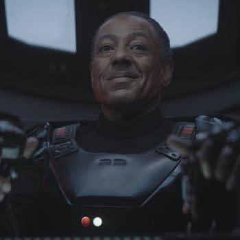 Giancarlo Esposito as Moff Gideon in The Mandalorian. Image courtesy of Lucasfilm