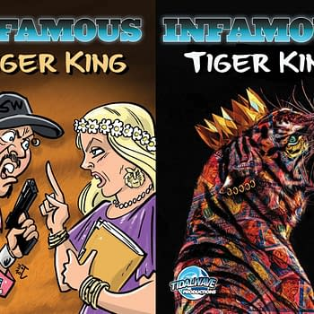 The Tiger King Comic Joe Exotic and Carole Baskin on Opposite Sides