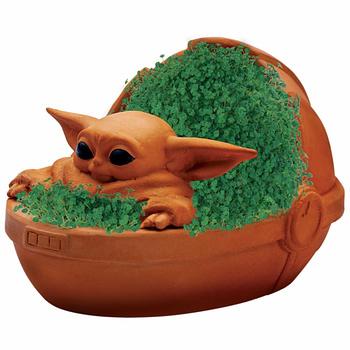 Star Wars The Mandalorian Gets Chia Pet Featuring Baby Yoda