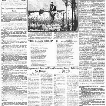 He's Here, 06 Jan 1918, via newspapers.com.