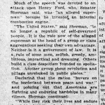 Alleged Super clipping, 05 Feb 1919, via newspapers.com.