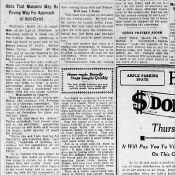 Coming Ruler of World clipping, 28 Mar 1923, via newspapers.com.