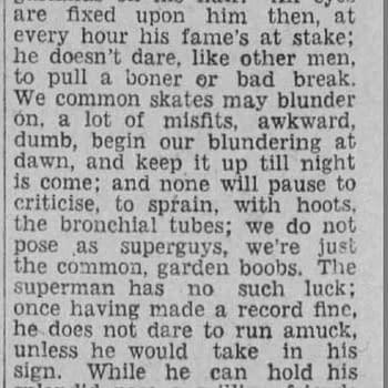 I'm Glad I'm Not a Super clipping, 08 Dec 1928, via newspapers.com.