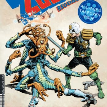 The cover of 2000 AD Regened. Image Credit: 2000 AD