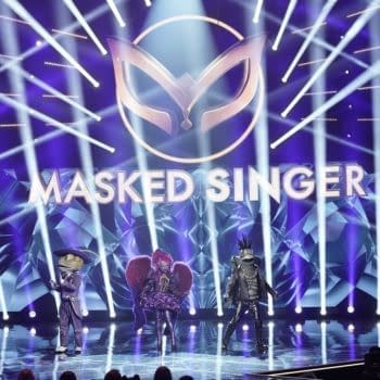 The Masked Singer: Night Angel in the all-new ÒCouldnÕt Mask For Anything More: The Grand Finale!Ó season finale episode of THE MASKED SINGER airing Wednesday, May 20 (8:00-9:01 PM ET/PT) on FOX. CR: Michael Becker / FOX. © 2020 FOX Media LLC.