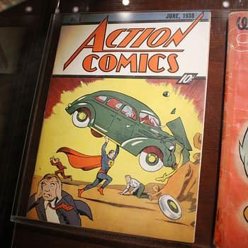 Action Comics 1 in Geppi's Entertainment Museum, photo by Lauren Sisselman.