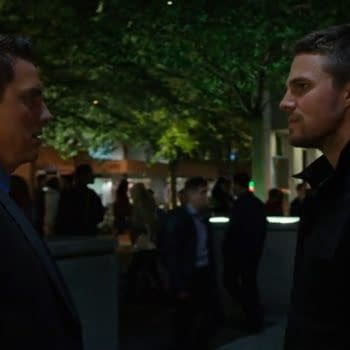 Malcom and Oliver meet on Arrow, courtesy of The CW.