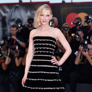 """Cate Blanchett attends the premiere of the movie """"Joker"""" during the 76th Venice Film Festival on August 31, 2019 in Venice, Italy. Editorial credit: Andrea Raffin / Shutterstock.com"""