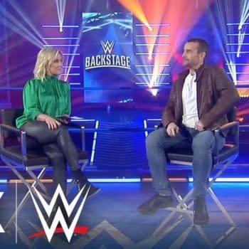 CM Punk on Backstage, courtesy of WWE.