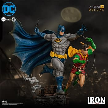 Batman and Robin are the Dynamic Duo with New Iron Studios Statue