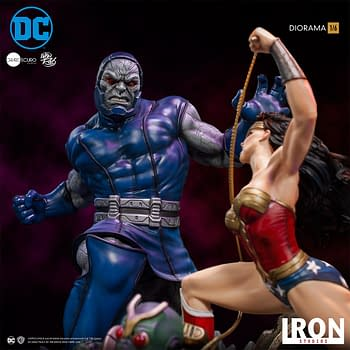 Wonder Woman Takes on Darkseid in New Iron Studios Statue