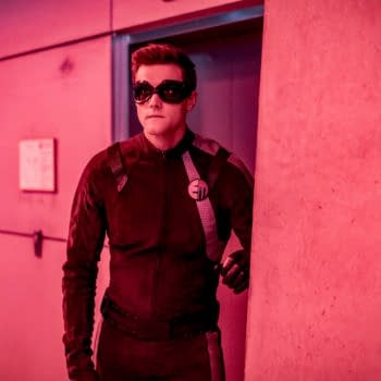"""The Flash -- """"Success Is Assured"""" -- Image Number: FLA619b_0054b.jpg -- Pictured: Hartley Sawyer as Elongated Man -- Photo: Colin Bentley/The CW -- © 2020 The CW Network, LLC. All rights reserved"""