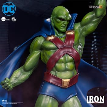 Martian Manhunter is Ready for Action with Iron Studios