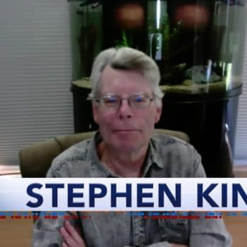 Stephen King was a guest on The Late Show with Stephen Colbert, courtesy of CBS.
