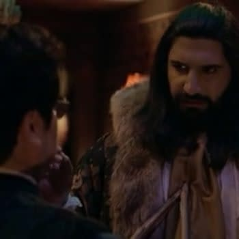 Nandor isn't sure what to think of Guillermo on What We Do in the Shadows, courtesy of FX.