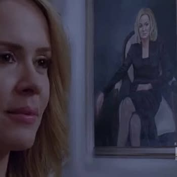 American Horror Story Star Sarah Paulson Posts Coven BTS Snake Pic