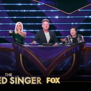 The Masked Singer panelists have a little fun, courtesy of FOX.