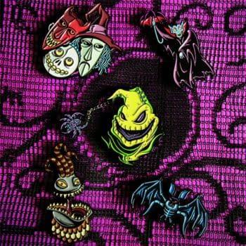 Mondo will release 4 new Nightmare Before Christmas enamel pins. Credit Mondo