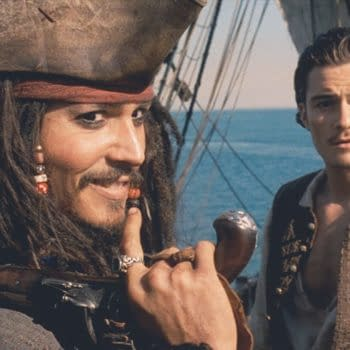 Johnny Depp and Orlando Bloom in Pirates of the Caribbean: The Curse of the Black Pearl (2003). © 2003 - Buena Vista Pictures/Disney