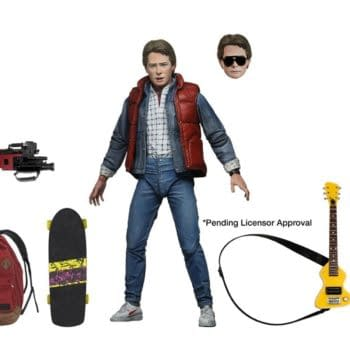 NECA has revealed their Back To The Future Marty McFly figure will release in August. Credit NECA