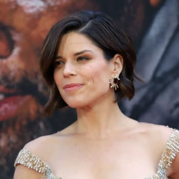 "Neve Campbell attends the premiere of ""Skyscraper"" at AMC Loews Lincoln Square on July 10, 2018, in New York City. Editorial credit: JStone / Shutterstock.com"