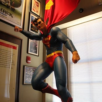 Superman Statue in Geppi's Entertainment Museum, photo by Lauren Sisselman.
