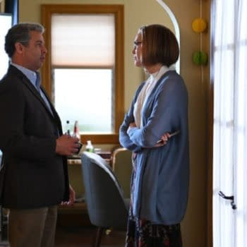 """THIS IS US -- """"Strangers: Part Two"""" Episode 418 -- Pictured: (l-r) Jon Huertas as Miguel, Mandy Moore as Rebecca -- (Photo by: Mitchell Haddad/NBC)"""