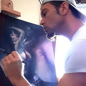Lucio Parrillos Original Vampirella Painting Snapped Up on IndieGoGo