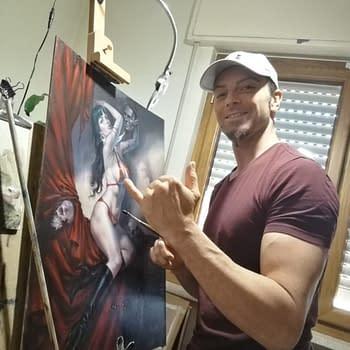 Lucio Parrillo Bulks Up to Paint Vampirella Cover