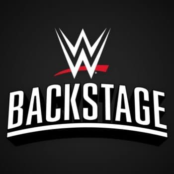 The official logo for WWE Backstage.