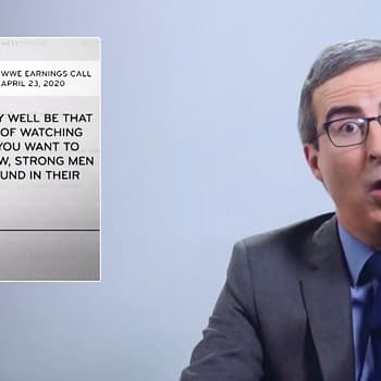 HBO Late-Night Host John Oliver Shoots on WWE for Pandemic Filming