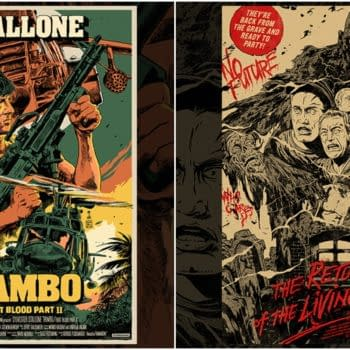 Rambo and Return Of The Living Dead Posters Hitting Mondo Tomorrow