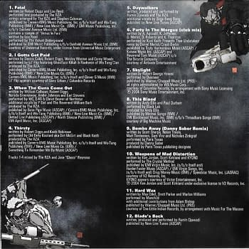 Blade Trinity Deluxe Limited Edition Soundtrack Back Cover