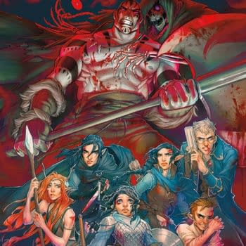 The cover to the library edition of Critical Role: Vox Machina Origins.