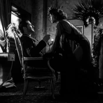 LUCIFER (L to R) TOM ELLIS as LUCIFER MORNINGSTAR and LESLEY-ANN BRANDT as MAZE in episode 504 of LUCIFER Cr. JOHN P. FLEENOR/NETFLIX © 2020