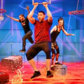 A scene from the new game show competition series Floor is Lava (Image: Netflix)