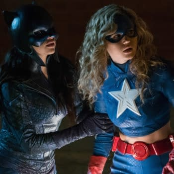 """Stargirl -- """"Wildcat"""" -- Image Number: STG104b_0083b.jpg -- Pictured (L-R): Yolanda Montez as Wildcat and Brec Bassinger as Stargirl -- Photo: Jace Downs/The CW -- © 2020 The CW Network, LLC. All Rights Reserved."""