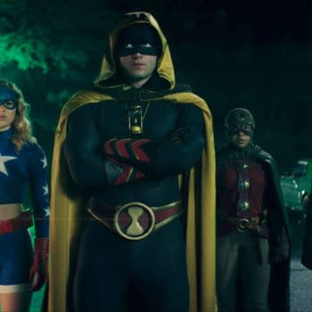 """Stargirl -- """"The Justice Society"""" -- Image Number: STG106d_0001b.jpg -- Pictured (L-R): Brec Bassinger as Stargirl, Cameron Gellman as Hourman, Anjelika Washington as Dr. Mid-Nite and Yvette Monreal as Wildcat -- Photo: The CW -- © 2020 The CW Network, LLC. All Rights Reserved."""