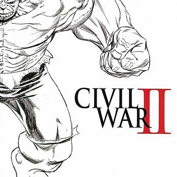 Civil War II #3 Quesada Sketch Variant Wrap Front Cover