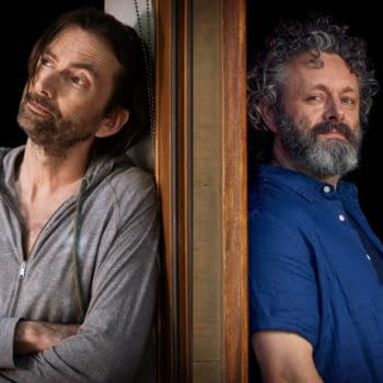 Programme Name: Staged - TX: n/a - Episode: n/a (No. n/a) - Picture Shows: David Tennant, Michael Sheen - (C) GCB Films/Infinity Hill - Photographer: Simon Ridgeway and Paul Stephenson