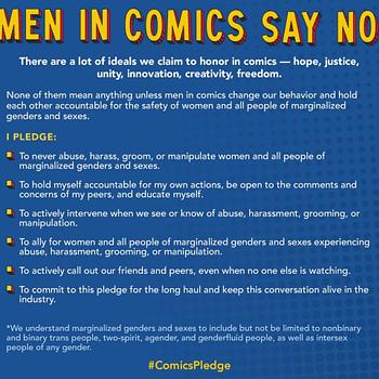 Male Comic Creators Take The #ComicsPledge &#8211 A First Step
