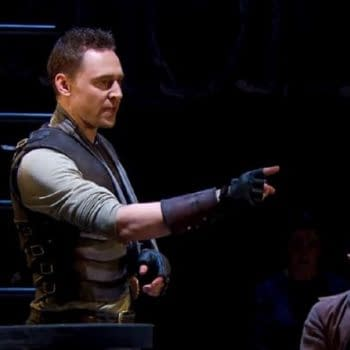 A scene from Coriolanus with Tom Hiddleston (Image: National Theatre).
