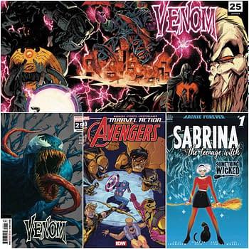 Venom #25, Yellow Hulk and Sabrina Get Second Printings.