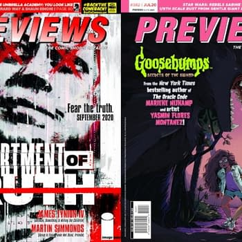 Department of Truth and Goosebumps on Diamond Previews Covers