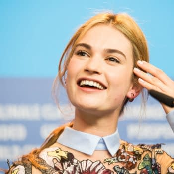 Lily James, 'Cinderella' press conference, 65th Berlinale International Film Festival at Grand Hyatt Hotel on February 13, 2015 in Berlin, Germany. Editorial credit: magicinfoto / Shutterstock.com
