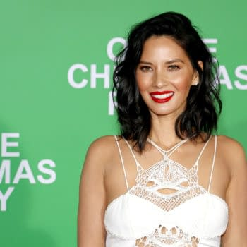 Olivia Munn at the Los Angeles premiere of 'Office Christmas Party' held at the Regency Village Theatre in Westwood, USA on December 7, 2016. Editorial credit: Tinseltown / Shutterstock.com